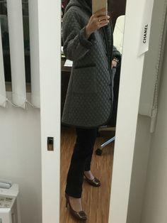 Liberty x Coupole Tokyo coat | 45R pants | Isabel Marant bracelet | Valentino Rockstud bracelet | Roger Vivier pumps