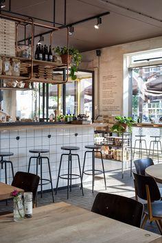 Interior design Vlaamsch Broodhuys Amsterdam; design by Ninetynine #bakery #white #steel