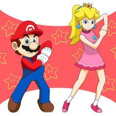 Mario X Peach by きりほし