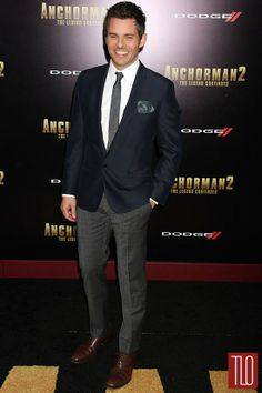 """James Marsden in Dolce&Gabbana at the """"Anchorman 2: The Legend Continues"""" NYC Premiere 