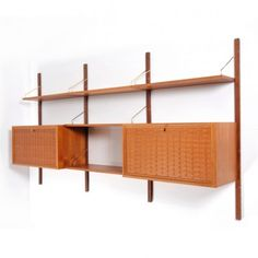 located using u003e royal system wall unit by poul cadovius for cado