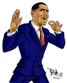 Barack Obama By Roy Cabrera - www.robcabrera.deviantart.com  - FuTurXTV & FUNK GUMBO RADIO: http://www.live365.com/stations/sirhobson and http://twitter.com/FUNKGUMBO