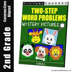 Grade 2 Two Step Word Problems Mystery Pictures Coloring Worksheets Math Addition Games, Addition And Subtraction, Coloring Worksheets, Coloring Pages, 2nd Grade Math Worksheets, Activity Sheets, Color Activities, Math For Kids, Word Problems