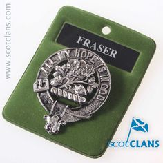 Fraser Clan Crest Badge. Free worldwide shipping available