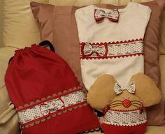 Conjunto de ratoncita para los dientes camiseta lazo para el pelo y mochila