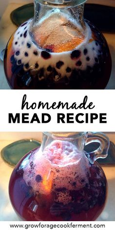 Want to make mead, but intimidated by making a large batch? I'll show you how to make a gallon of mead! This simple mead recipe is perfect for beginners! Homemade Wine Recipes, Homemade Liquor, Beer Recipes, Alcohol Recipes, Real Food Recipes, Drink Recipes, Fermented Honey, Fermented Foods, Mead Wine