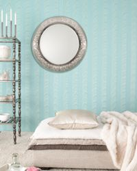 Mirrors may not always flatter the figure, but they can accentuate a room nicely. #homedecor