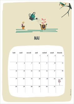 FREE Printable Calendar May 2014 (french)