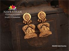 Newly arrived #gold #jhumka  collections from our 'Jewels of Distinction' http://navrathan.com
