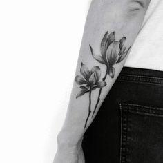 Xray magnolia tattoo