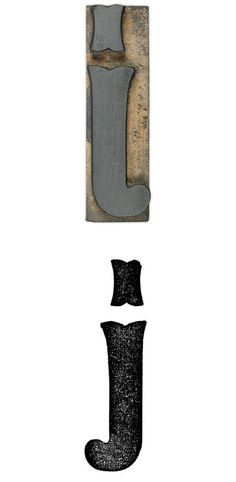J // Antique Tuscan X Condensed No. 11 wood type lowercase letter j