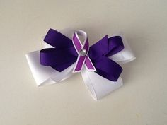 Bow I wore at purple stride Tampa bay