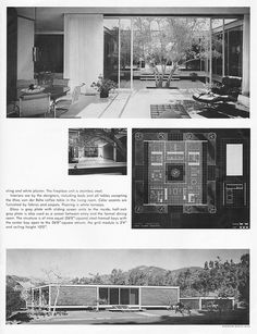 House by Craig Ellwood Associates Part 2 Mcm House, Casa Patio, Modern Art Deco, Art And Architecture, Vintage Architecture, Googie, Modern House Plans, Craig Ellwood, Mid Century House