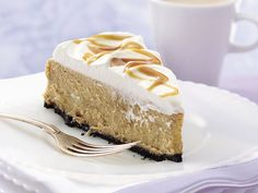 Caramel Cappuccino Cheesecake-this is the lightest, fluffiest cheesecake I've ever had, it's amazing! Making it for Thanksgiving trading the caramel for pumpkin and adding pumpkin spice to make it into a pumpkin spice latte cheesecake, should be tasty!