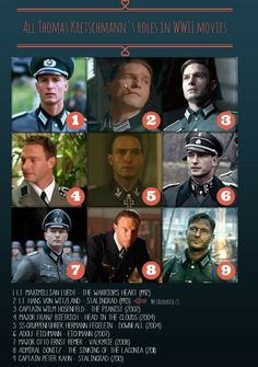 A collage of all Thomas Kretschmann's role as a German officer in WWII movies. My favourite one is Lt. Von Witzland from Stalingrad (1993) and I really appreciated that he got a role also in the second Stalingrad, exactly 20 years after the first one.