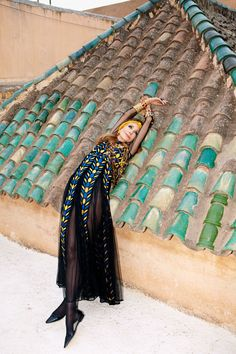 Marisa Berenson At Home in Marrakech - Marisa Berenson Valentino Gown