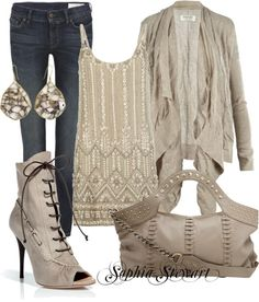 """""""Muted Tones"""" by sophiastewart on Polyvore minus the shoes"""