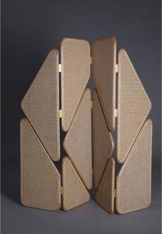 Les plus beaux paravents du moment The most beautiful screens of the moment: Eva Partition screen, Thomas Trad (Joy Mardini Design Gallery)