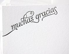 Gracias Thank You Cards Thank You Letter, Thank You Notes, Thank You Cards, Thank You In Spanish, How To Speak Spanish, Etiquette And Manners, Typo Design, Spanish Quotes, Beautiful Words