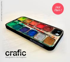 this is the most interesting phone case i've seen in a while  Watercolor Set iPhone 5 Case by CRAFIC on Etsy, $19.99
