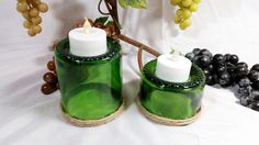 Check out this item in my Etsy shop https://www.etsy.com/listing/260222680/recycled-wine-bottle-punt-tealight