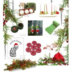 Christmas Treats by whimzingers on Polyvore featuring Olivine and National Tree Company