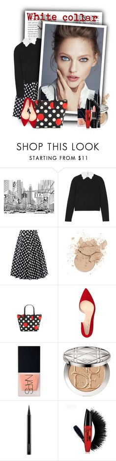 """""""White collar"""" by tasha1973 ❤ liked on Polyvore featuring beauty, Alice + Olivia, RED Valentino, Shoes of Prey, NARS Cosmetics, Christian Dior, MAC Cosmetics and Smashbox"""