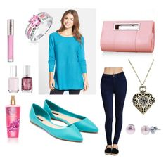 Baby Blues and Pinks by ohsosara64 on Polyvore featuring polyvore, fashion, style, Caslon, Forever 21, Bling Jewelry, Honora, CARGO, Essie and clothing