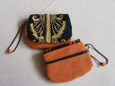 Front and back of a small change purse