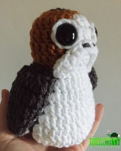 Crochet Amigurumi inspired by the new Porg characters from Star Wars:The Last Jedi