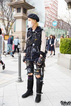 "awesome punk fashion ... ""Anarchyism"", 26 years old | 17 May 2015 | #Fashion #Harajuku (原宿) #Shibuya (渋谷) #Tokyo (東京) #Japan (日本)"