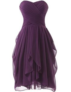 Dress U Womens Ruched Bridesmaid Dress Short Prom Dresses Burgundy US 22W
