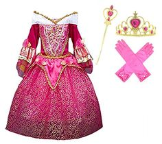 princess  aurora  deluxe  pink  party  dress  costume  6  7