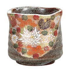 Japanese Kutaniyaki Kutani Mug Cup Pottery beautiful art Shot Glass tea JAPAN Tea Japan, Japanese Tea Cups, Japanese Art, Organic Matcha, Tea Cup Set, Glazes For Pottery, Gold Flowers, Mug Cup, Decorative Bowls