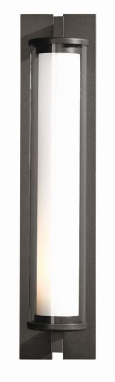 """Hubbardton Forge 306455 Fuse Single Light 4"""" Wide Outdoor Wall Sconce with Clear Natural Iron Outdoor Lighting Wall Sconces Wall Sconce"""