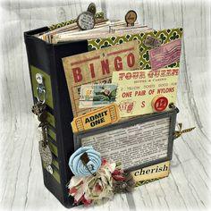 Altered HARDBACK BOOK JOURNAL Planner Organizer Junk Journal Art Journal Smashbook