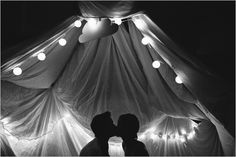 whimsical engagment photos -love tent