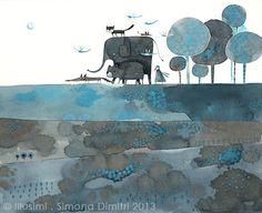 the trip, toward another world by Simona Dimitri