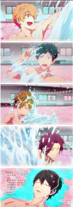 Nagisa, Rei, Makoto, Rin and Haruka - ED *internal crying when fin watching last ep*