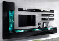 Made of FSC®-certified wood-based material. In 2 colors: body white . Tv Cabinet Wall Design, Tv Wall Cabinets, Modern Tv Cabinet, Tv Wall Design, Cupboard Design, Modern Tv Room, Modern Tv Wall Units, Hall Interior, Home Interior Design
