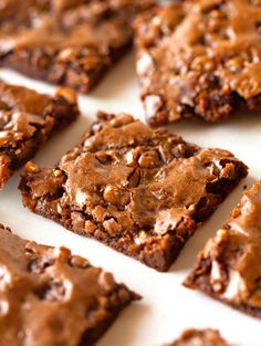 Toffee chocolate chip brownie bark