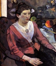 1890 Paul Gauguin Marie Derrien Huile sur Toile 65x55 cm Chicago, The Art Institute