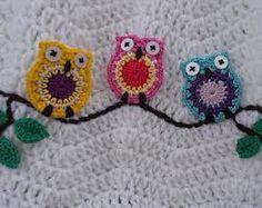Crochet little owl applique PATTERN by CrochetCookies on Etsy Crochet Owls, Crochet Motifs, Knit Crochet, Crochet Patterns, Crochet Appliques, Crochet Afghans, Crotchet, Owl Afghan, Owl Applique