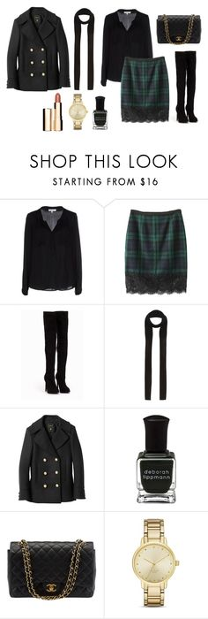 """""""Films 5"""" by julia-sidorenko on Polyvore featuring Milly, Nly Shoes, River Island, Balmain, Deborah Lippmann, Chanel, Kate Spade and Clarins"""