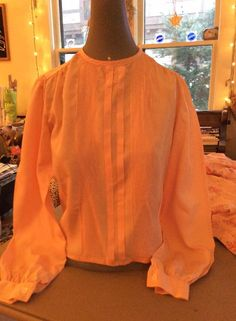 Vintage 1940s Blouse Peach/Pink Color By Perquette by TimelessTreasuresVCB on Etsy