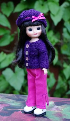 """PLuM PuDDiNG... 3 PC's for 8"""" Tonner Patsyette or Tiny Betsy McCall dolls. Newly created and at my website now. One in stock-click the pix to take you there."""