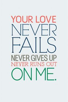 Your love...