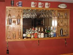 Bar Mirror With Shelf Bar Mirror With Shelf bar mirrors with shelves 60 awesome exterior with bar mirror 1024 X 768 Bar Mirror With Shelf - Shelving is a Diy Home Bar, Diy Bar, Bars For Home, Wood Crates, Wooden Pallets, Pallet Wood, Diy Pallet Projects, Home Projects, Pallet Ideas