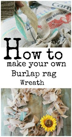 How to make your own #Burlap rag wreath