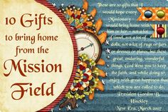 Missionary Box Moms ~ 10 Gifts to Bring Home from the Mission Field